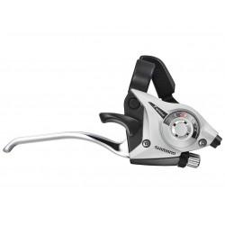 Шифтер/Тормозная ручка Shimano Tourney ST-EF51, правая, 8 скоростей, серебристый, трос+оплетка ESTEF51R8AS2P