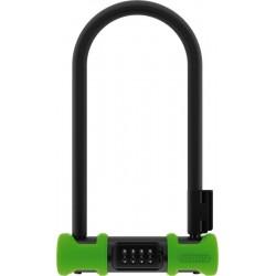 Велозамок Abus Ultra 410C/170HB, черно-зеленый