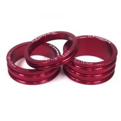 Кольцо проставочное TOKEN, алюминий, 15 мм, красный, 1 1/8 TKA3 red
