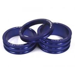 Кольцо проставочное TOKEN, алюминий, 15 мм, синий, 1 1/8 TKA3 blue