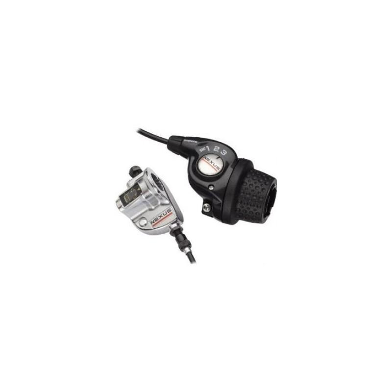Шифтер Shimano Nexus SL-3S35E revo, 3 скорости, трос+оплетка (1800 мм), с bell crank 3 ASL3S35E180LS