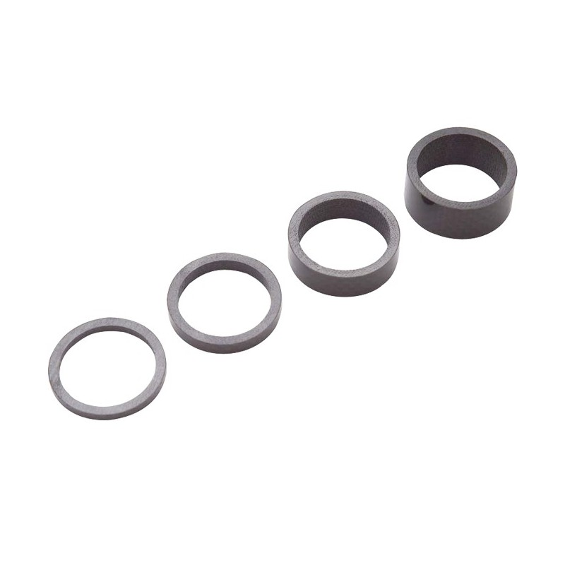 Кольца проставочные PRO карбон 1 1/8 набор: 3-5-10-15 мм PR320442