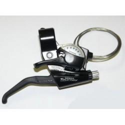 Шифтер/Тормозная ручка Shimano Tourney ST-EF40, правая, 7 скоростей, черный, трос, б/упак ASTEF40R7
