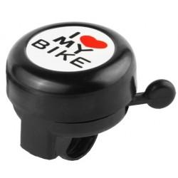Звонок Stels I love my bike, алюминиевый, черный 210141