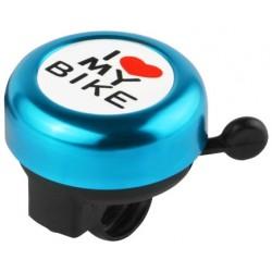 Звонок Stels I love my bike, алюминиевый, черно-синий 210143