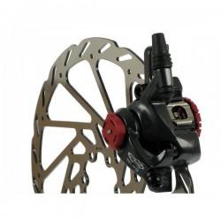 Тормоз механический дисковый Avid BB7 черный, с адаптером и ротором G2CS 203 мм 00.5016.166.030