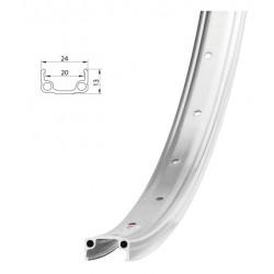 Обод Remerx RMX 20 406x20 мм, одинарный, серебристый, 36 отверстий, A/V 5-380253