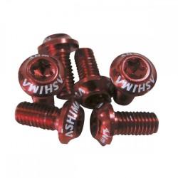 Набор болтов Ashima 12 шт для крепления тормозного ротора, красные М5х10, под ключ Т25 AA-RB-ST-RED