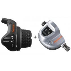 Шифтер Shimano Nexus SL-3S41E, revo, 3 скорости, трос+оплетка (1800 мм), SM-BC06 ASL3S41E180LS