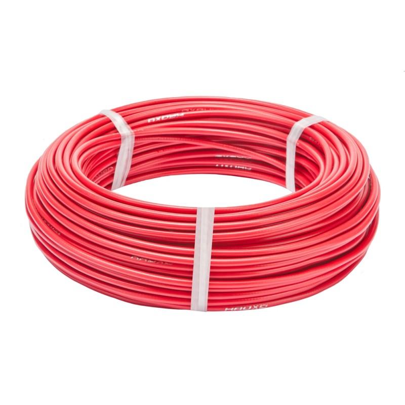 Оплетка для троса тормоза Stels, красный, 5 мм, 1 метр 340057