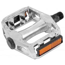 Педали BLF-B11 алюминиевые, серебристые BLF-B11