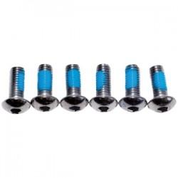 Набор болтов Weldtite 6 шт для крепления тормозного ротора, серебристые М5х10, под шестигранник 7-08008