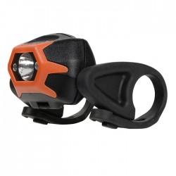 Фонарь передний INOVA Bike Light, черный с оранжевым HLSBA-19-R7