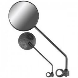 Зеркало заднего вида Jing Yi-111 диаметр 9 см, крепление на руль, 2 шт 220010