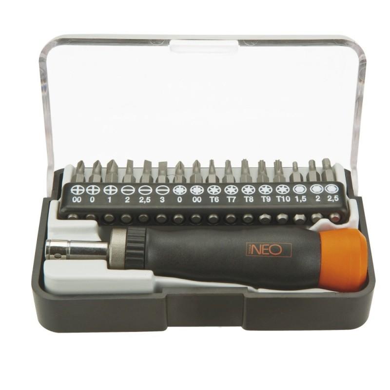 Отвертка Neo со сменными битами, набор 17 шт 04-228