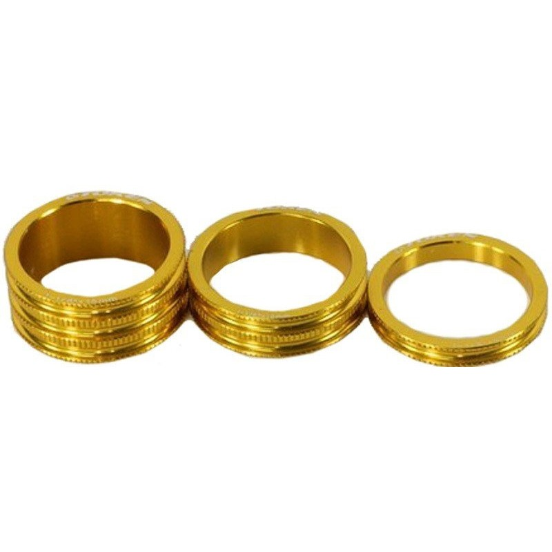Кольцо проставочное TOKEN, алюминий, 5 мм, золотое, 1 1/8 TKA1 gold