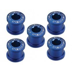 Бонки Token, M8x8.5 мм, алюминиевые, 5 шт. синие AL-K083-Blue