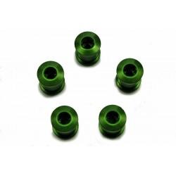Бонки Token, M8x8.5 мм, алюминиевые, 5 шт. зеленые AL-K083-Green