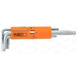 Ключи шестигранные Neo удлиненные, 2.5-10 мм, 8 шт 09-513