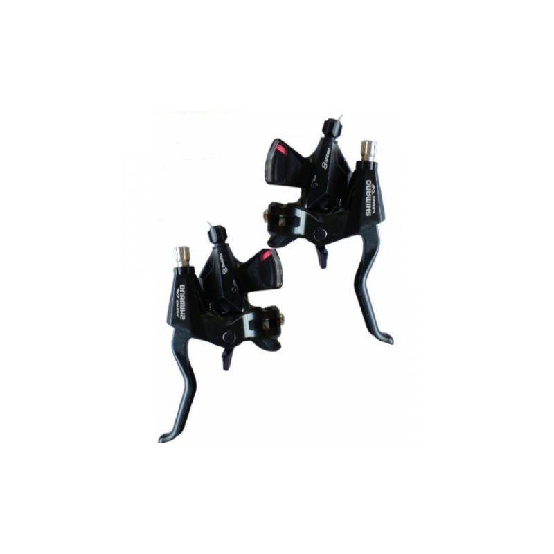 Шифтер/Тормозная ручка Shimano ST-M310, левый/правый, 3х8 скоростей, черный, трос+оплетка ESTM3102PTAL
