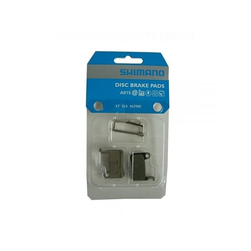 Тормозные колодки Shimano для дисковых тормозов A01S, с пружиной, шплинтом, пара, пластиковые Y8EP98010