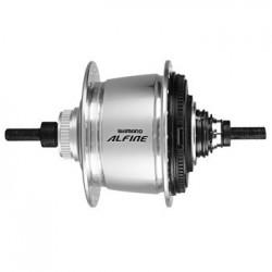 Втулка планетарная Shimano Alfine SG-S700, 32 отверстия, 11 скоростей, Center Lock, 135x187 мм, серебристый ISGS700BS