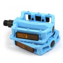 Педали Wellgo B197N пластиковые, голубые 6-14193