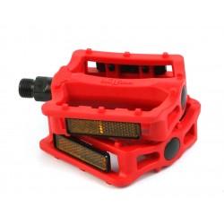 Педали Wellgo B197N пластиковые, красные 6-14195