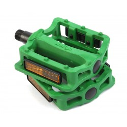 Педали Wellgo B197N пластиковые, зеленый 6-14196