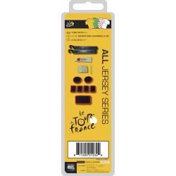 Набор для ремонта Tour De France, заплатки, наждак, резинки, монтажки и клей 5-880185