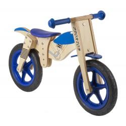 Беговел деревянный Motorbike 12 сине-бежевый 5-659971