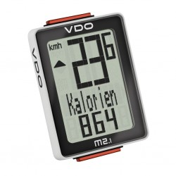 Велокомпьютер VDO M2.1 WR, 9 функций, чёрно-белый 4-30020
