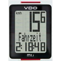 Велокомпьютер VDO M1.1, 5 функций, чёрно-белый 4-30010
