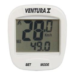 Велокомпьютер Ventura X, 10 функций, белый 5-244554