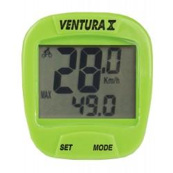 Велокомпьютер Ventura X, 10 функций, зеленый 5-244555