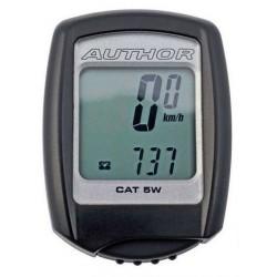 Велокомпьютер беспроводной Author Cat 5W, 5 функций, черный 8-13111070