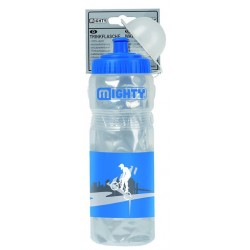 Фляга пластиковая MIGHTY 400 мл прозрачная, с крышкой 5-340319
