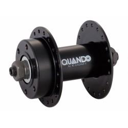 Втулка передняя QUANDO KT-M68F, 32 отверстия, 6 болтов, ось 3/8, черная 6-160167