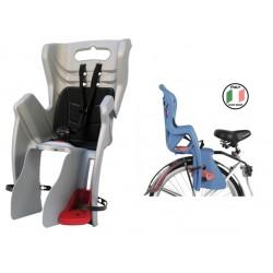 Кресло детское на багажник Bellelli Little Duck, серебристое 0-280068