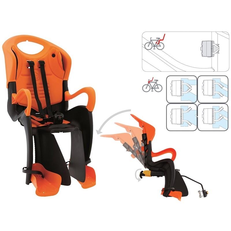 Кресло детское заднее Bellelli Tiger, черно-оранжевое 0-280180