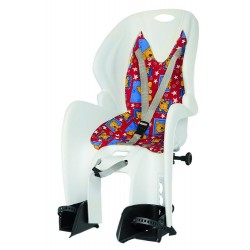 Кресло детское на багажник M-Wave, белое 5-259868