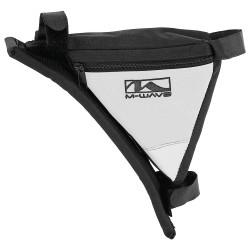 Сумка на раму M-Wave, черно-белая, треугольная, с плечевым упором 5-122542