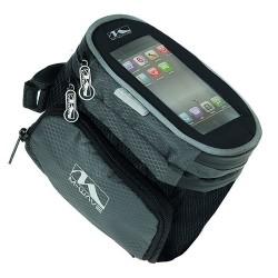 Сумка-чехол для смартфона M-Wave, на раму, влагозащитный, черный 5-122376