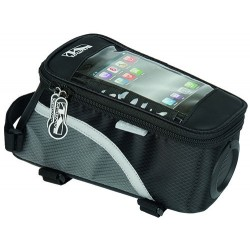 Сумка-чехол для смартфона M-Wave, на раму, влагозащитный, черный, с динамиком 5-122377