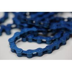 Цепь Clark's C410TP, синяя, 112 звеньев, 1 скорость, с замком, 1/2x1/8 3-136